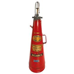 Vintage Fire extinguisher, Reliance, 2-gal capacity, metal -Very Rare!