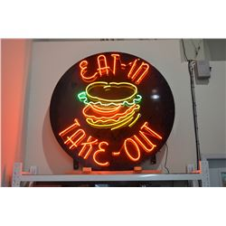 LARGE Neon Food Sign - 5' Dia.