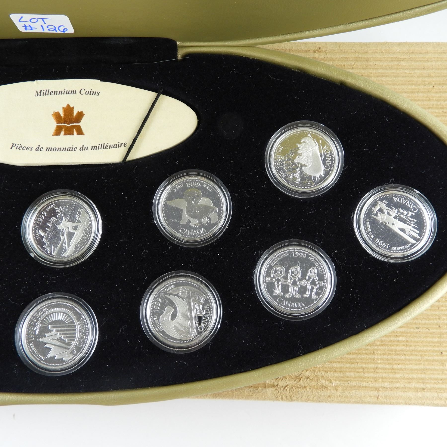 1999 CANADA Millennium Sterling Silver Quarter for March in proof finish