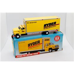 Two Ryder moving trucks 1:64 scale Has Boxes