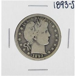 1893-S Barber Half Dollar Silver Coin