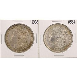 Lot of 1886-1887 $1 Morgan Silver Dollar Coins