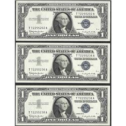 Lot of (3) 1957B $1 Silver Certificate Notes