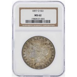1897-O $1 Morgan Silver Dollar Coin NGC MS62