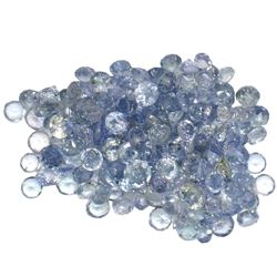 12.49 ctw Round Mixed Tanzanite Parcel