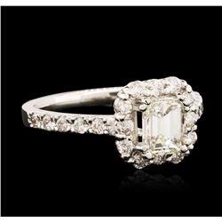 14KT White Gold EGL USA Certified 1.56 ctw Diamond Ring