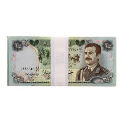 Lot of (25) Iraqi 25 Dinars Saddam Hussein Notes