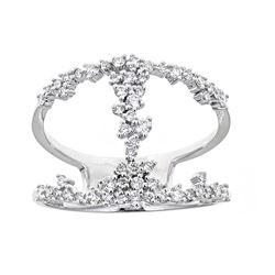 0.51 ctw Diamond Ring - 18KT White Gold