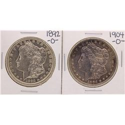 Lot of 1892-O to 1904-O $1 Morgan Silver Dollar Coins
