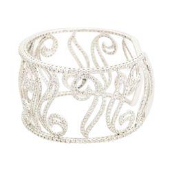 10.00 ctw Diamond Bracelet - 14KT White Gold