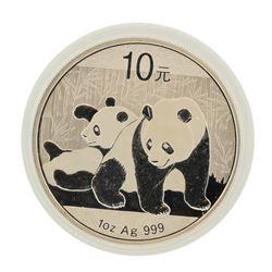 2010 China 10 Yuan Panda Silver Coin