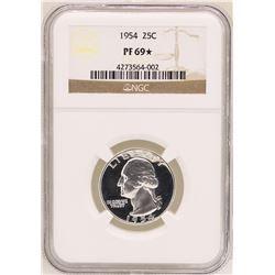 1954 Washington Quarter Proof Coin NGC PF69*