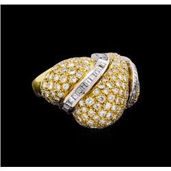 5.40 ctw Diamond Ring - 18KT Yellow Gold