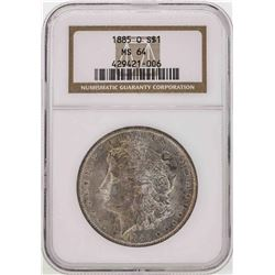 1885-O $1 Morgan Silver Dollar Coin NGC MS64