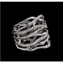 0.83 ctw Diamond Ring - 14KT White Gold