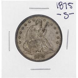 1875-S Liberty Seated Half Dollar Coin