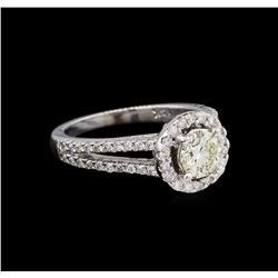1.18 ctw Diamond Ring - 14KT White Gold