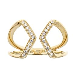 0.17 ctw Diamond Ring - 18KT Yellow Gold