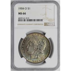 1904-O $1 Morgan Silver Dollar Coin NGC MS66 AMAZING TONING