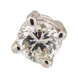 0.20 ctw Diamond Stud Earrings - 14KT White Gold