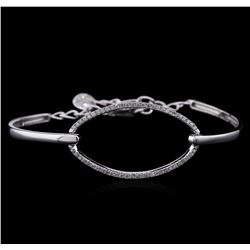 0.65 ctw Diamond Bracelet - 14KT White Gold