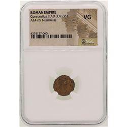 Constantius II 337-361 AD Ancient Roman Empire Coin NGC VG