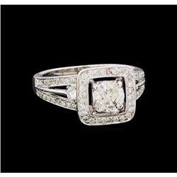 1.58 ctw Diamond Ring - 18KT White Gold