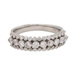 0.5 ctw Diamond Band - 14KT White Gold