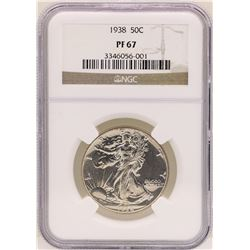 1938 Walking Liberty Half Dollar Proof Coin NGC PF67
