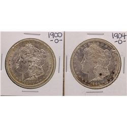 Lot of 1900-O & 1904-O $1 Morgan Silver Dollar Coins