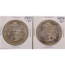 Lot of 1900-O & 1904-O $1 Morgan Silver Dollar Coins