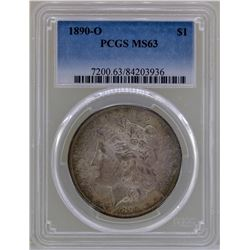 1890-O $1 Morgan Silver Dollar Coin NGC MS63