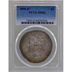 1890-O $1 Morgan Silver Dollar Coin NGC MS63