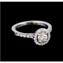 0.93 ctw Diamond Ring - 14KT White Gold
