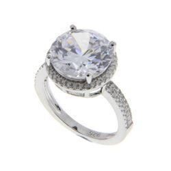 Ladies .925 Silver Swarovski Element Ring. Size 8.