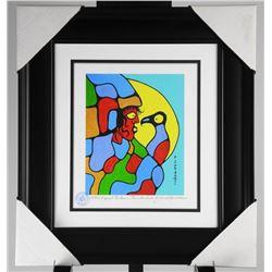 "Norval Morrisseau (1931-2007) Studio Panel. ""I Speak to Inner Thunderbird"". 17x18 Inches."