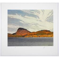 """A.J. Casson (1898-1992) Litho 'Lake Willoughby' 11x13"""" Unframed. Original Hand Signature by the Arti"""