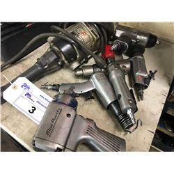 6 AIR TOOLS AND A LARGE ANGLE GRINDER