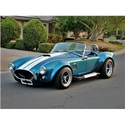 12:30PM SATURDAY FEATURE 1965 FORD SHELBY COBRA ROADSTER TRIBUTE
