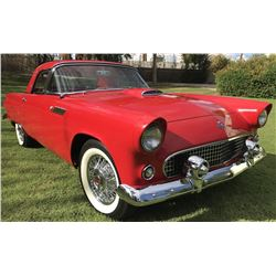 4:00PM SATURDAY FEATURE 1955 FORD THUNDERBIRD T BIRD CONVERTIBLE BEAUTIFULLY RESTORED