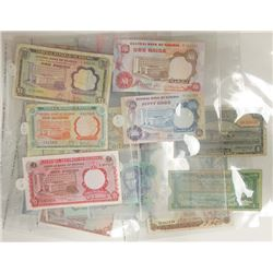 Assorted African Issuers, 1940s-1970s, Group of 18 Issued Notes.