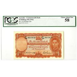 Commonwealth of Australia, ND (1942) Issued Banknote.