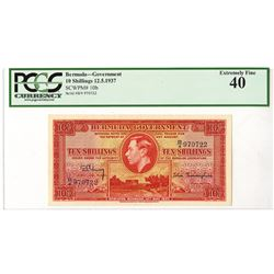Bermuda Government, 1937 Issued Banknote.