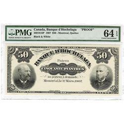 Province De Quebec, Banque D'Hochelaga, 1907 Uniface Front Proof Banknote.