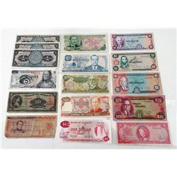 Assorted Central American Issuers. 1967-2003. Group of 25 Issued Notes.
