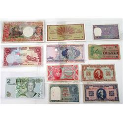 Assorted Mixed World Issuers. 1945-2007. Group of 10 Issued Notes.