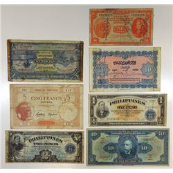 Various Issuers. 1930s-1940s. Group of 7 Short Snorters.