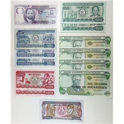 Banco Nacional Ultramarino, Mostly 1980s Replacement Note Assortment