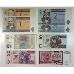 Eastern Europe Replacement Note Assortment, 1992 and Later.