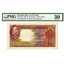 Banco De Portugal, 1940 Issue Banknote.